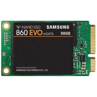 MZ-M6E500B/IT 内蔵SSD 860 EVO mSATA [mSATA /500GB] 【バルク品】