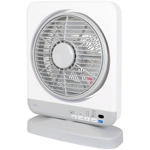 (DBFJ230H) 【送料無料】 ゼピールリモコン付ボックス型扇風機 (3枚羽根) DBF-J230H-WH