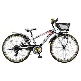 22型 子供用自転車 クロスファイヤー ジュニア(シルバー&ブラック/7段変速) CFJ27【2018年モデル】 【組立商品につき返品不可】