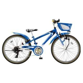22型 子供用自転車 クロスファイヤー ジュニア(ブルー&ホワイト/7段変速) CFJ27【2018年モデル】 【組立商品につき返品不可】