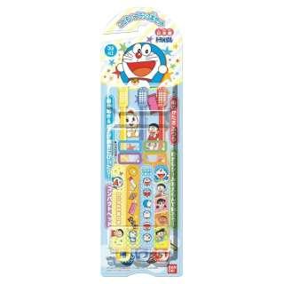 ドラえもん 子ども用歯ブラシ 3本セット 黄色、青色、赤色