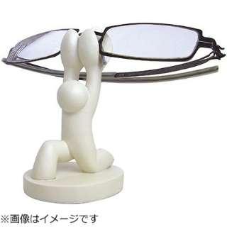 重量あげメガネホルダー(ホワイト)HM-18905