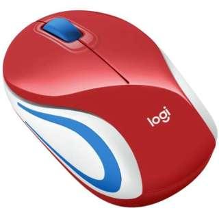 マウス レッド M187rRD [光学式 /無線(ワイヤレス) /3ボタン /USB]