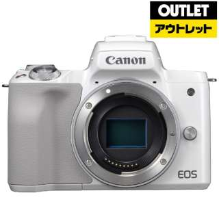 【アウトレット品】 EOS Kiss M ミラーレス一眼カメラ ホワイト [ボディ単体] 【外装不良品】