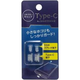 スマートフォン対応[Type-C] Type-C・3.5mmステレオミニプラグ端子キャップ CF-C01C CF-C01C クリア