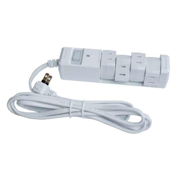電源タップ ホワイト PTBK2404WH [2.0m /4個口 /スイッチ付き(一括)]