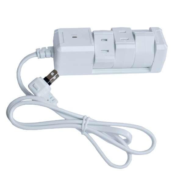 電源タップ (2ピン式・3個口・1m) PTBK1303WH ホワイト