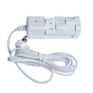 電源タップ (2ピン式・3個口・3m) PTBK3303WH ホワイト