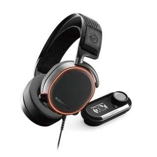 61453 ゲーミングヘッドセット Arctis Pro + Game DAC ブラック [φ3.5mmミニプラグ+USB /両耳 /ヘッドバンドタイプ]