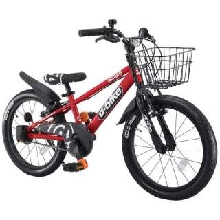 16型 幼児用自転車 D-BIKE MASTER 16V バスケット付き(レッド/シングルシフト)【3歳半以上向け】 【組立商品につき返品不可】