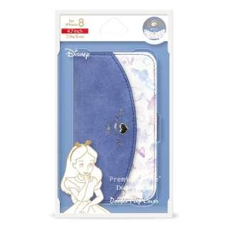 iPhone8/7/6s/6用 Disney series ダブルフリップカバー 手帳型ケース PG-DFP391ALC アリス