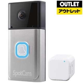 【アウトレット品】 クラウド対応ビデオ ドアベル SpotCam-Ring 【外装不良品】