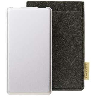 モバイルバッテリー mobile battery AT-MBA62P(SV)[6200mAh /3ポート /microUSB /充電タイプ]