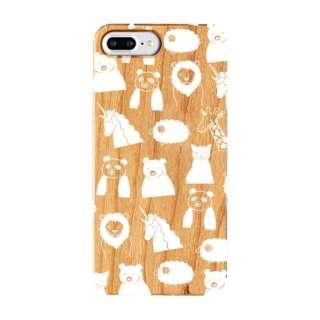 iPhone8/7/6 Plus FRAPBOIS WOOD ZOO WHITE AB-0853-IP7P