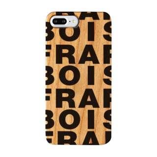 iPhone8/7/6 Plus FRAPBOIS WOOD LOGO BLACK AB-0850-IP7P