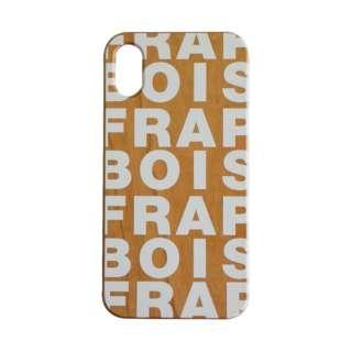 iPhoneX  FRAPBOIS WOOD LOGO WHITE AB-0851-IP0X AB-0851-IP0X