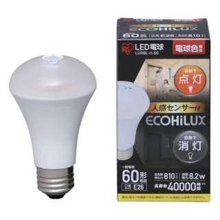 LED電球 人感センサー付 E26 60形相当 電球色