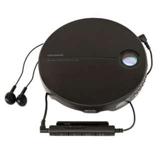 GH-CDPA-BK ポータブルCDプレーヤー ブラック