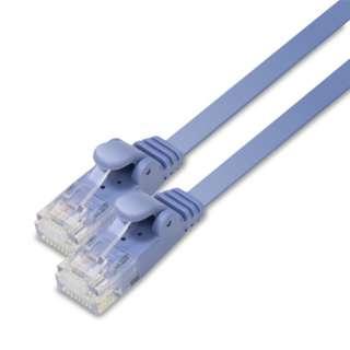 LD-GF2/BU15 LANケーブル ブルー [15m /カテゴリー6 /フラット]