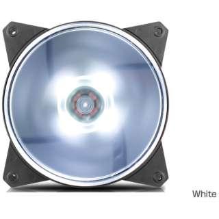 ケースファン[120mm / 1200RPM] MasterFan MF120L R4-C1DS-12FW-R1 White LED