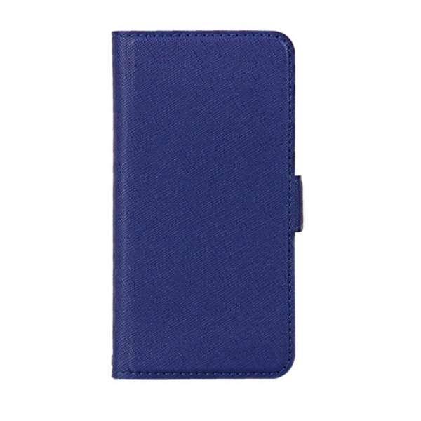 PB iPhone8/7 サフィアーノ調落下防止手帳ケース BKSIP8T08 ミッドナイトブルー
