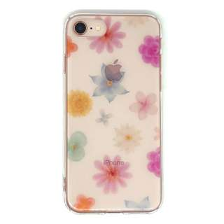 PB iPhone8/7 FLORAL STYLE カラフル・ブーケ BKSFLWCV05 クリア