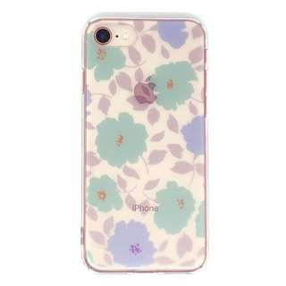 PB iPhone8/7 FLORAL STYLE クール・ポピー BKSFLWCV06 クリア