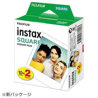 チェキ インスタントカラーフィルム チェキスクエア用フィルム 「instax SQUARE」 2パック(10枚入×2)