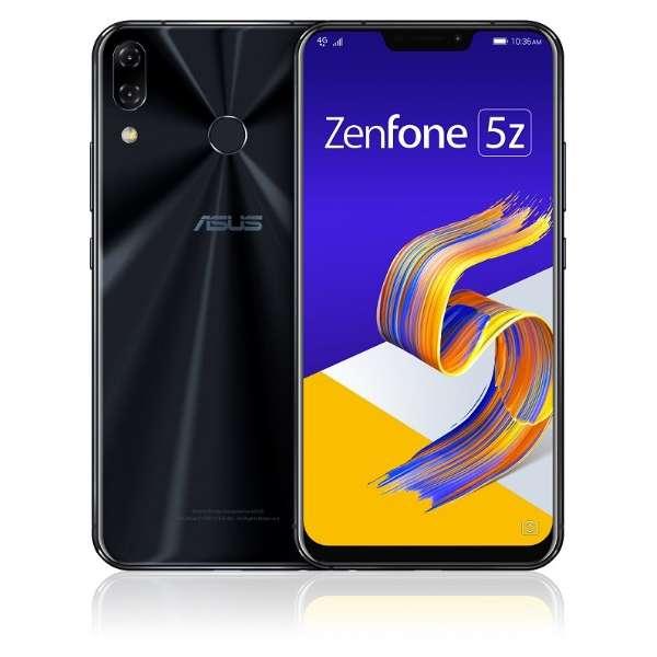 Zenfone 5Z Series シャイニーブラック ZS620KL-BK128S6  Snapdragon 845 6.2型ワイド メモリ/ストレージ: 6GB/128GB nanoSIM x2 DSDV対応 ドコモ/au/ソフトバンクSIM対応 SIMフリースマートフォン