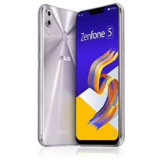 Zenfone 5 Series スペースシルバー ZE620KL-SL64S6  Snapdragon 636 6.2型ワイド メモリ/ストレージ: 6GB/64GB nanoSIM x2 DSDV対応 ドコモ/au/ソフトバンクSIM対応 SIMフリースマートフォン