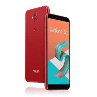 Zenfone 5Q Series ルージュレッド ZC600KL-RD64S4  Snapdragon 630 6型ワイド メモリ/ストレージ: 4GB/64GB nanoSIM x2 DSDS対応 ドコモ/au/ソフトバンクSIM対応 SIMフリースマートフォン