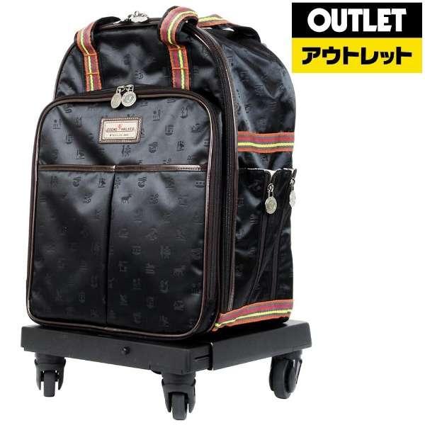 【アウトレット品】 ストッパー機能付 ショッピングキャリー 2000-36 ブラック 【生産完了品】