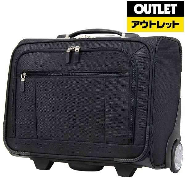 【アウトレット品】 フロントポケット横型ビジネスソフトキャリー 4039-34 ブラック 【外装不良品】