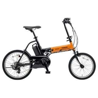 【eバイク】 18/20型 電動アシスト折りたたみ自転車 オフタイム(オレンジ×ブラック/外装7段変速)BE-ELW072AK【2018年モデル】 【組立商品につき返品不可】