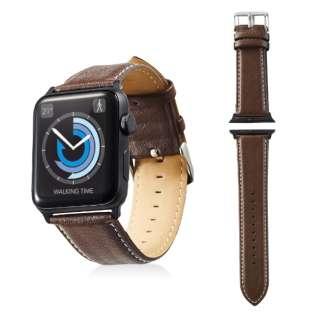 Apple Watch 42mm用 ヴィーガンレザーバンド(ブラウン) AW-42BDLRBBR