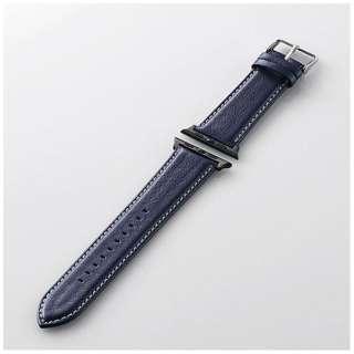 Apple Watch 42mm用 ヴィーガンレザーバンド(ネイビー) AW-42BDLRBBU