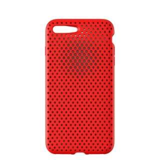 iPhone 8 Plus / 7 Plus用 AndMesh メッシュiPhoneケース レッド