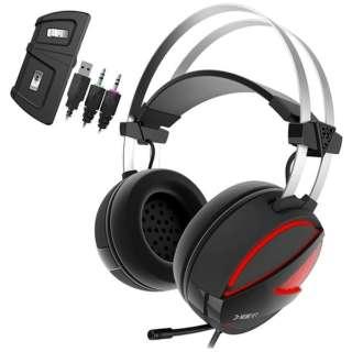 HEBE E1 ゲーミングヘッドセット HEBE [φ3.5mmミニプラグ+USB /両耳 /ヘッドバンドタイプ]