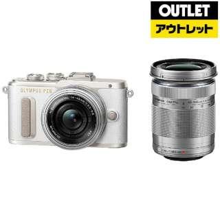 【アウトレット品】 ミラーレス一眼カメラ PEN E-PL8-WH [ダブルズームレンズ] ホワイト 【外装不良品】