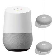 Smart Speaker Google Home GA3A00538A16 + Google Home Mini (chalk) GA00210JP *2 set HOME+MINI