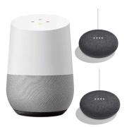 Smart Speaker Google Home GA3A00538A16 + Google Home Mini (charcoal) GA00216JP *2 set HOME+MINI