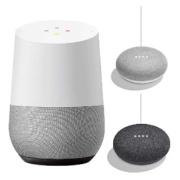 Google Home + Google Home Mini 2台(チョーク・チャコール)