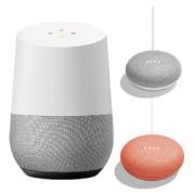 Google Home + Google Home Mini 2台(チョーク・コーラル)