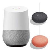 Google Home + Google Home Mini 2台(チャコール・コーラル)