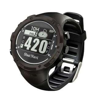 時計型GPSゴルフウォッチ ShotNavi(ブラック) W1-GL-BK【国内&海外対応】
