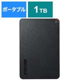 HD-PCFS1.0U3-BBA 外付けHDD ブラック [ポータブル型 /1TB]