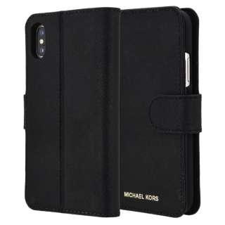 75d91aa79c iPhone X Black Leather Folio 32H7GZ3L0L-001 ブラック 手帳型ケース 32H7GZ3L0L-001 ブラック