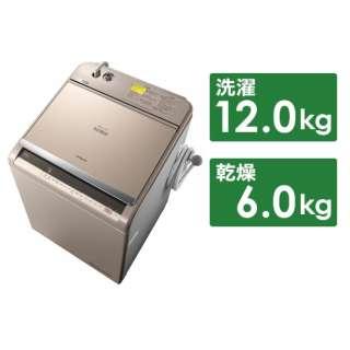 BW-DV120C 縦型洗濯乾燥機 ビートウォッシュ シャンパン [洗濯12.0kg /乾燥6.0kg /ヒーター乾燥(水冷・除湿タイプ) /上開き]