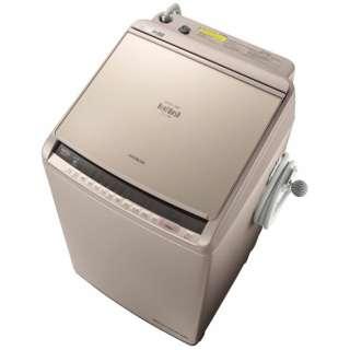 BW-DV100C 縦型洗濯乾燥機 ビートウォッシュ シャンパン [洗濯10.0kg /乾燥5.5kg /ヒーター乾燥(水冷・除湿タイプ) /上開き]