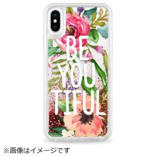 iPhone X用 Glitter Case CTF-2619958-371602 Be YOU Tiful Watercolor Floral